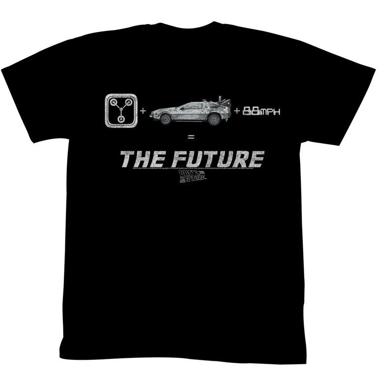 BACK TO THE FUTURE THE FUTURE BLACK Mens Adult Short Sleeve T-Shirt Print Tee Men Short Sleeve Clothing TOP TEE