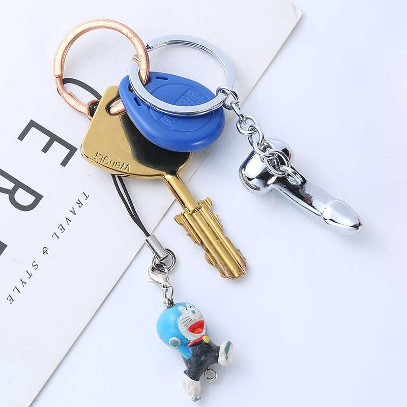 พวงกุญแจชายอวัยวะเพศ Key CHAIN สำหรับคนรักโลหะเซ็กซี่ Dick Penis พวงกุญแจแต่ละ Keychains ของขวัญผู้หญิง Man Car KEY