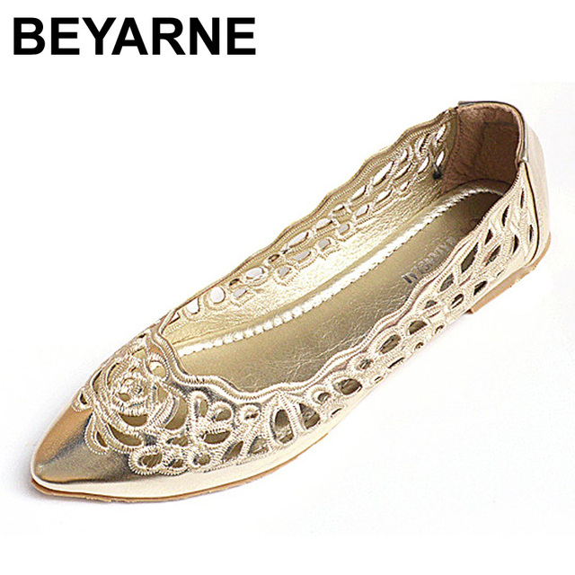 Free Shipping Fashion normic lace embroidered gauze pointed toe flat lace cutout shoes network women's shoes flat heel plus size
