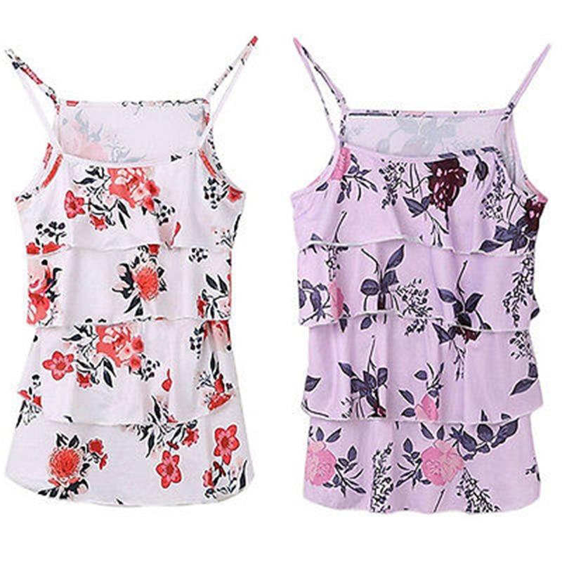 Pregnant Womens Maternity Breastfeeding Tanks 2017 Women Floral Print Top Clothes Fashion Bebes Pregnant Breastfeeding T-shirts