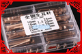 Free Shipping 1 Set Rose Gold Generic Stainless Steel Rivet Pin Assortment for Leather Strap Bracelet Full Metal Spring Bar