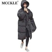 Сгустите Длинные Зима теплая Куртка С Капюшоном 2016 Осень Зима Негабаритных Черный Женщины Парки Пальто С Капюшоном Куртки мода верхней одежды