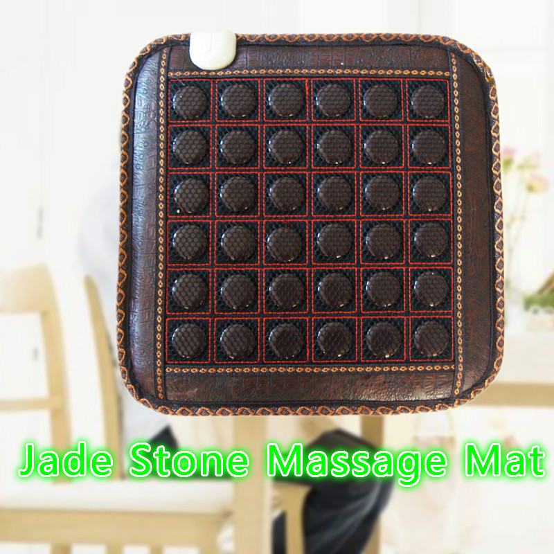 NEW Natural Jade Germanium Tourmaline Stones Infrared Heating Mat Jade Stone Massage Mat 2017 new natural jade germanium tourmaline stones infrared heating mat natural jade facial beauty massage tool jade roller