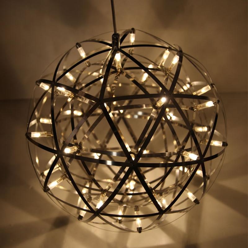 Modern star pendant lamp stainless steel creative circle