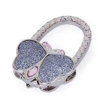 ASDS/Бабочка складной держатель вешалки крюка сумки со стразами (серебро)
