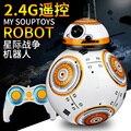 -Colección de Star Wars Robot de Star Wars 2.4G control remoto RC BB-8 BB8 robot inteligente JUGUETE pelota pequeña