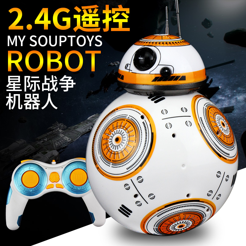 ФОТО In-stock Star Wars RC BB-8 Robot Star Wars 2.4G remote control BB8 robot intelligent small ball TOY