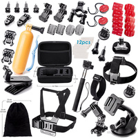 For Gopro accessories for go pro kit mount For GoPro Hero 6/5/4/3/2 SJCAM SJ4000/5000/7000 Action Camera Accessories Set Package