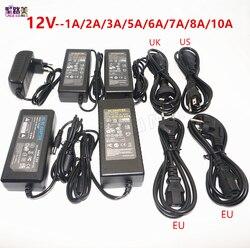 Светодиодный Питание адаптер DC5V/DC12V/DC24V 1A 2A 3A 5A 7A 8A 10A для 5 V 12 V 24 V светодиодный полосы лампы освещения светодиодный Мощность драйвер штепсель...