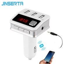 Jinserta автомобиля MP3 аудио плеер Bluetooth fm-передатчик Беспроводной модулятор автомобильный комплект громкой связи 3 USB Порты и разъёмы AUX Вход Jack