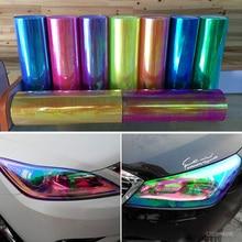0.3x9m(1x30ft) Chameleon Neo Red Color Headlight / Taillight Fog Light Vinyl Tint Film sticker 10 rolls/pack free shipping