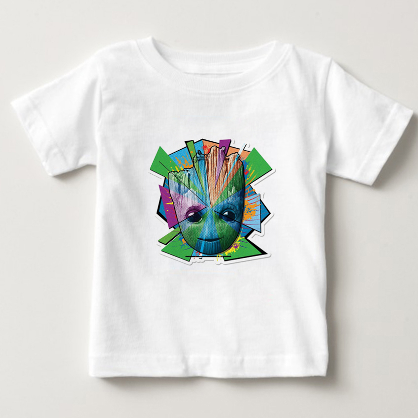 2018 New Guardians of the Galaxy 2boy t-shirt Anime pop groot Summer funny I AM GROOT T Shirt cool girls clothes Tshirt NN