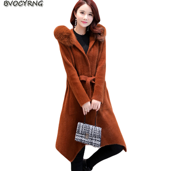 2018 Faux Fur Coats Women Autumn Winter Cashmere parka Women Fur coat High end Warm Jackets Big Size Female Winter Jacket  A0904