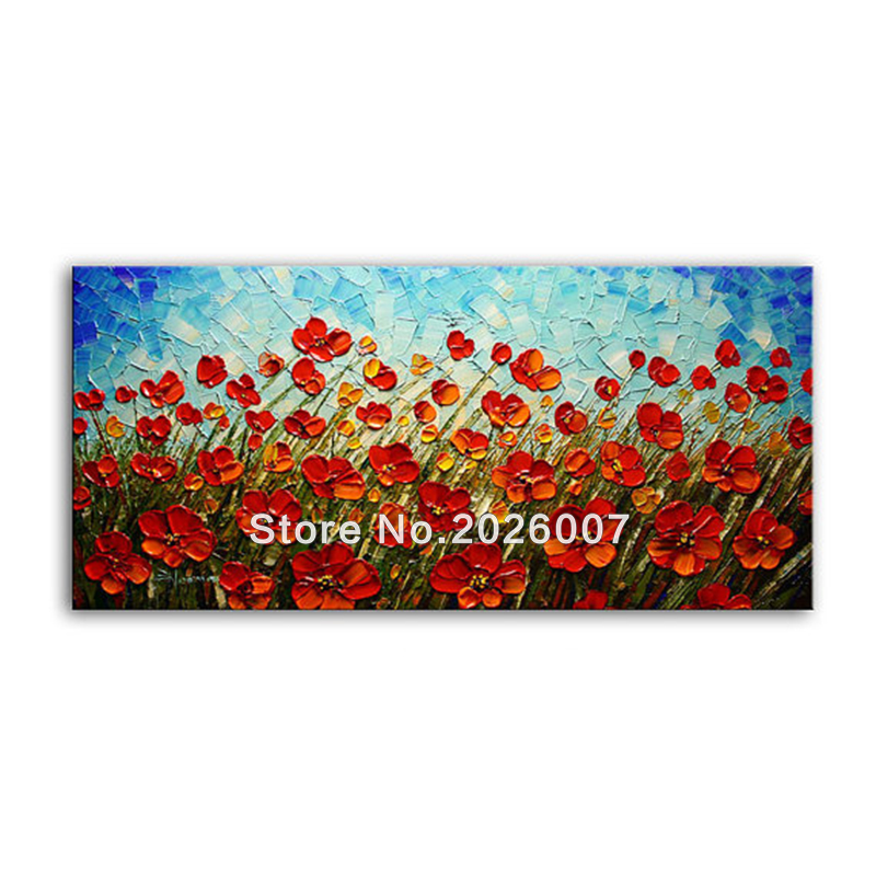 ᐊHand Painted Abstract Wall Art Modern Home Decoration Summer ...