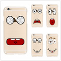 Phone Case For iPhone 4 4s 5 5s SE 6 6s 6plus 7 7Plus New Soft Cute Funny Expression Soft Phone Back Case Coque Cover