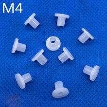 100 шт. M4 ID 9,5 мм OD нейлоновые шайбы для пальцев, искусственные бриллианты, Т-образный изоляционная прокладка нейлоновыми пластиковыми транзистор прокладки портом «Мама» шаг нейлон корпус линия