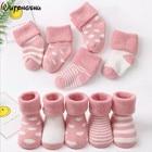 5 Pairs Baby Socks Warm Infant Socks Newborns Socks for Boys Birthday Gifts for Boy & Girls 0-24 Months Winter Socks For Baby