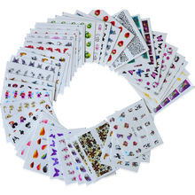 40sheets Watermark Nail Stickers Mixed Flower Cartoon Nail Art Water Transfer Sticker Decals Manicure Wraps Decor BESTZ001-040