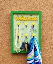 Зеленый старинные настенные полки ящик двери крыльцо творческий висит ключ держатель стены крюк главная органайзера украшения