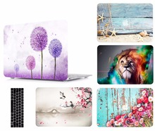 Print Laptop Protective Hard Shell Case Keyboard Cover Skin Set Bag Pouch For 11 12 13 15Apple Macbook Air Pro Retina Touch Bar high qualtiy crystal clear hard protective shell skin case cover for nintendo 3ds xl ll new
