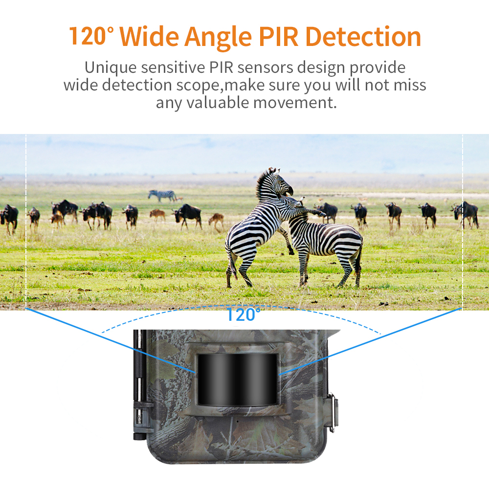 Image 2 - BOBLOV E2 Trail Camera 16MP 1080P 48pcs Infrared LEDs Hunting Camera Waterproof Outdoor Wild Gamge Camera Photo Traps-in Hunting Cameras from Sports & Entertainment