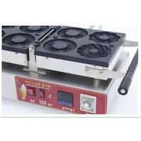 110V/220V 4pcs Commercial Electric Donut Machine Non stick Doughnut Maker 3 Shapes Doughnut Plum Blossom + Cookie + Round