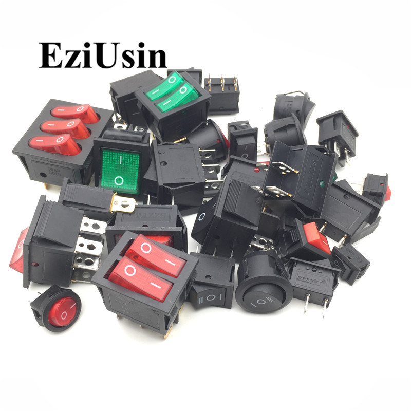 Full Range Of Rocker Switch Contains KCD1-KCD4, 5A-15A 2 Gear 3 Gear,  Illuminated, 28 Kinds Each One (Hot Discount Christmas Sale 2019)