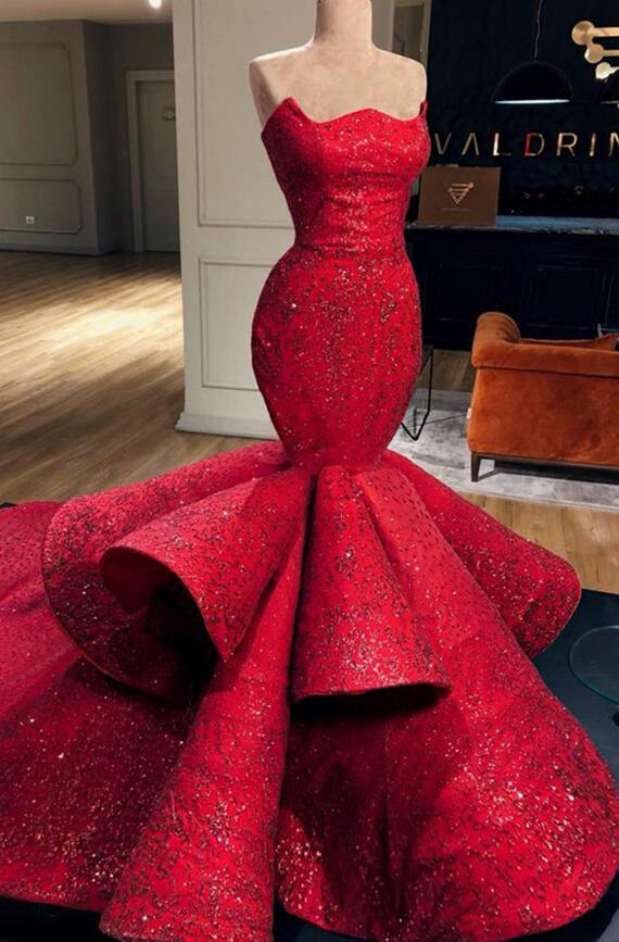 Charming Sweetheart Mermad 2019   Prom     Dresses   Sexy Lace Applique Elegant Evening   Dress