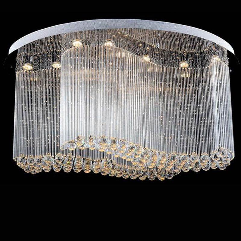 Free shipping new modern oval crystal chandelier luxury chandelier online free shipping price only includes the product cost and the courier charge online price does not include any tax or custom clearance fee that may be aloadofball Choice Image