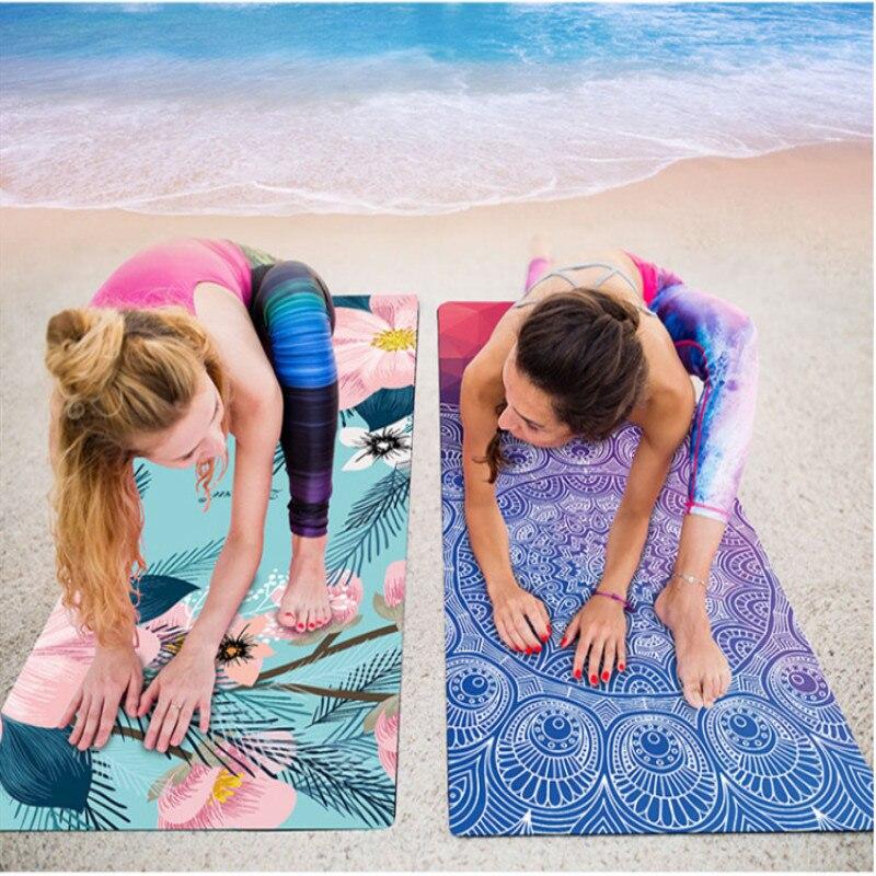 1.5mm Suede Caoutchouc Naturel Tapis De Yoga Antidérapant Absorption de La Transpiration 183*66 cm De Yoga Pad Fitness Gym Sport exercice pad Tapis De Yoga