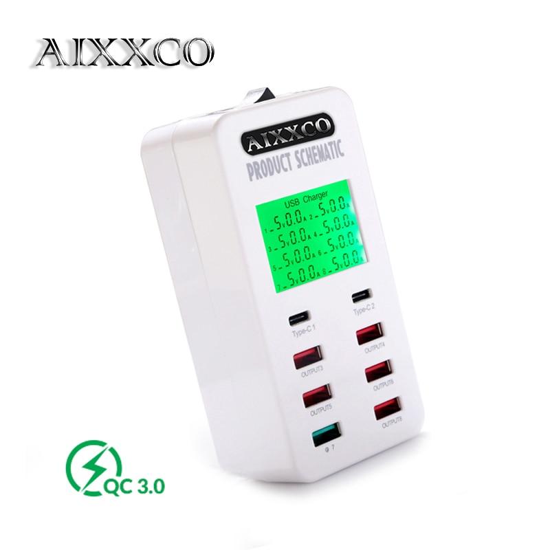 Cargador USB AIXXCO 35W con 2 puertos USB tipo C Estación de carga - Accesorios y repuestos para celulares - foto 1