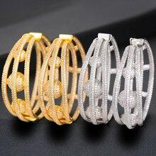 SISCATHY Unique Design Twist Cubic Zircon Statement Earrings For Women Round Circle Big Hoop Earring Wedding Jewelry Making 2019