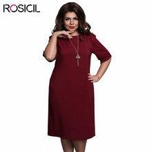 ROSICIL Brand Plus Size Women Elegant Office Dresses Casual 5XL Big Size Bodycon Dress Red Blue 6XL Large Size Women Party Dress
