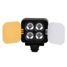 T4 Hot Shoe Led Video Light Lamp Lighting 1000LM 3200K/5600K 4pcs LED for Camera Camcorder DV DSLR