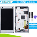 New For Sony xperia z3 compact display Touch Screen Digitizer for sony z3 compact LCD Frame D5803 lcd Assembly Frame + Tools
