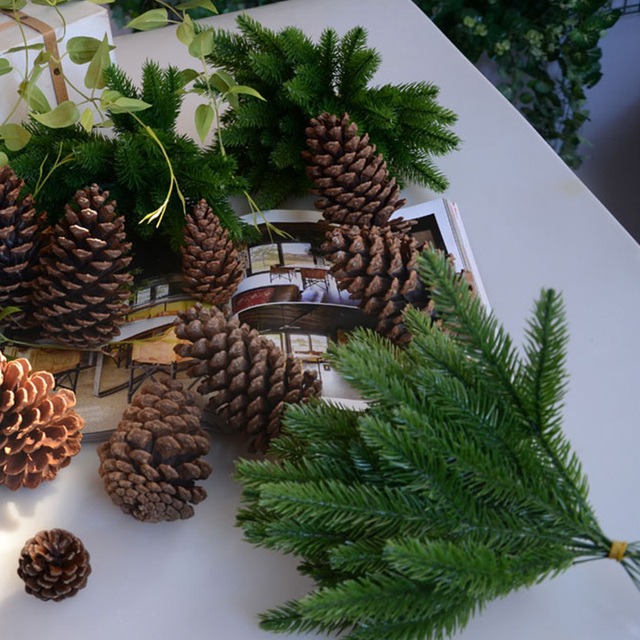DIY Artificial Plants Pine Branches Christmas Tree Accessories  3