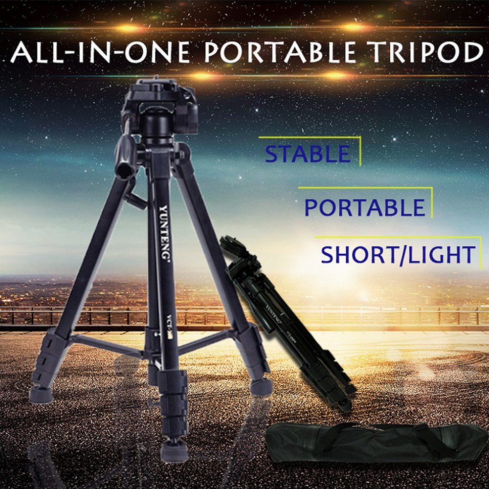 ФОТО MESEVEN T690 professional camera Tripod Maximum load 10kg with Quick Release Plate for phone camera projector with phone holder