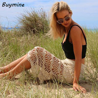 New 2015 Summer Fashion Women S Clothing Casual Long Skirt Crochet Knitted Lace Skater Beach Maxi