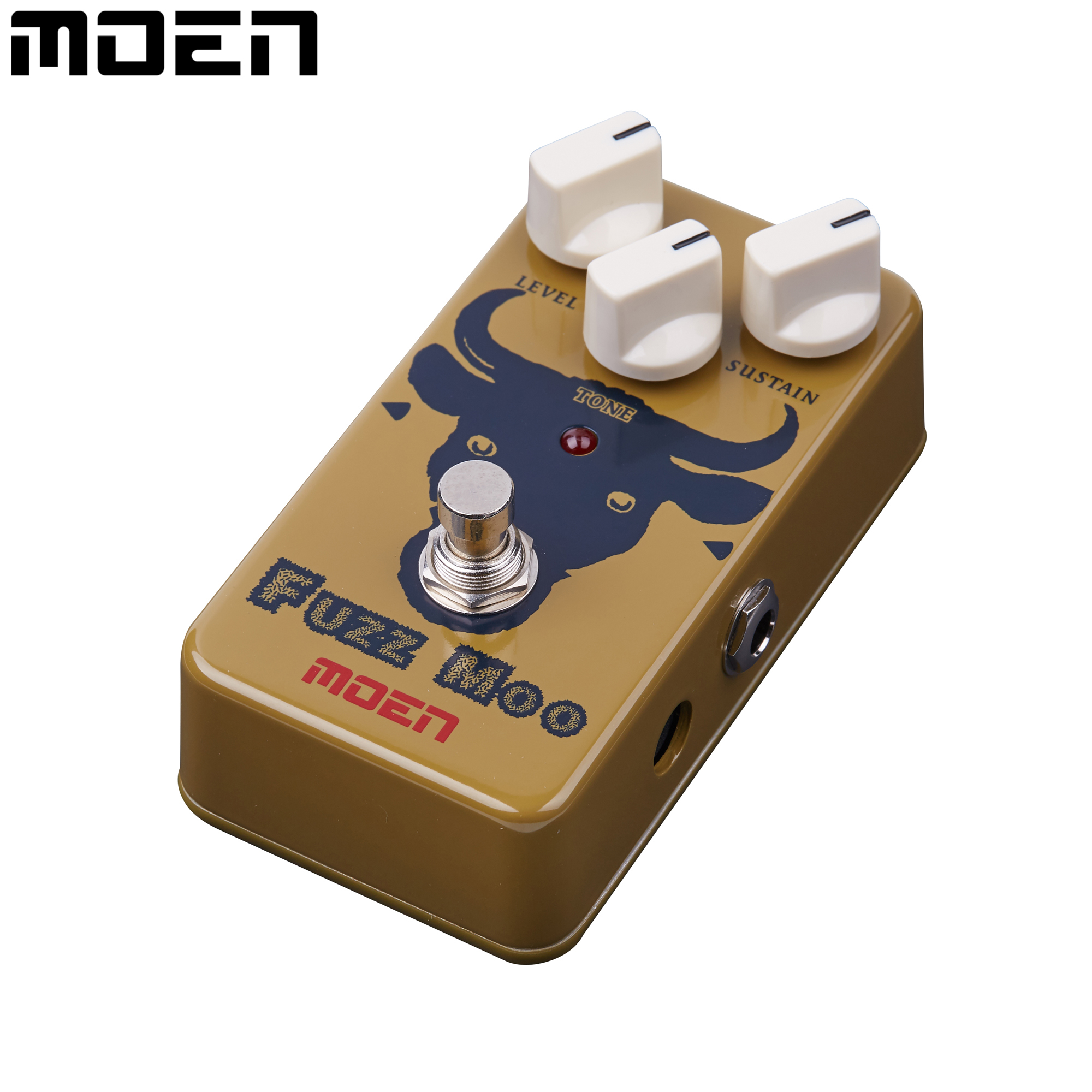 Moen Fuzz Moo Guitar Effect Pedal True Bypass Level Sustain Tone Controls Electric Guitar Effects AM-FZ mooer ensemble queen bass chorus effect pedal mini guitar effects true bypass with free connector and footswitch topper