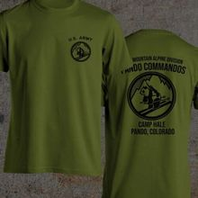 2019 Funny 10Th Mountain Alpine Panda Commandos Camp Hale Colorado Shirt Reproduction S-3Xl Double Side Unisex Tee