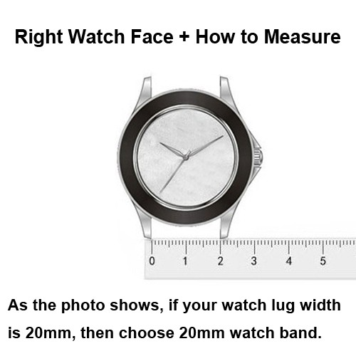 Right watch face how to measure