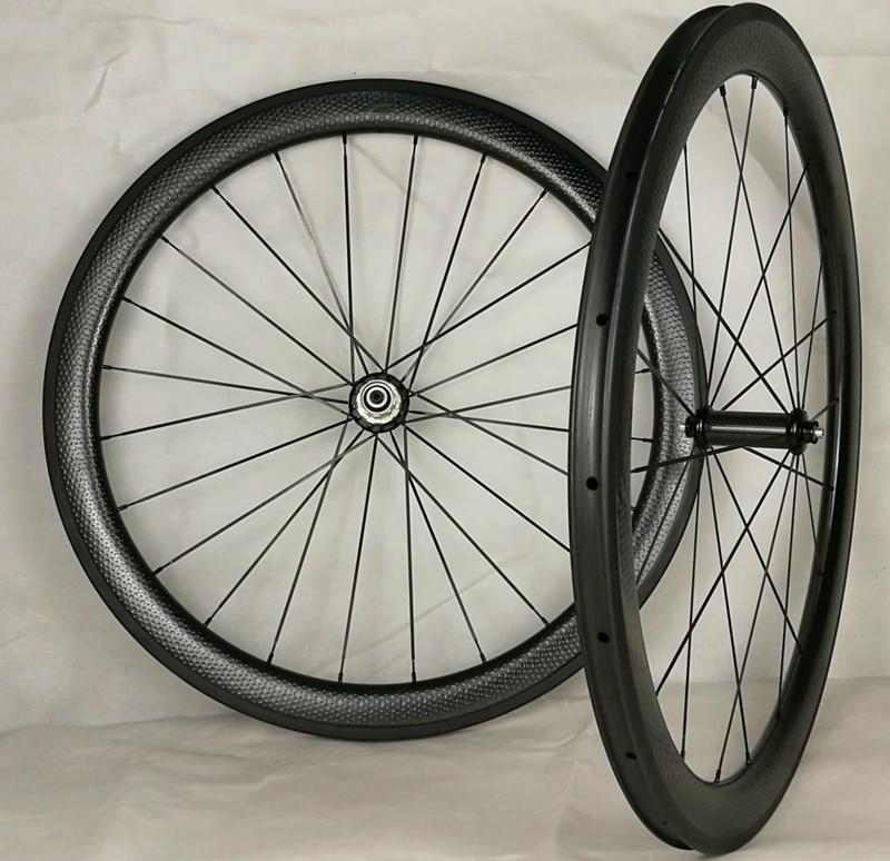 700C fossetta ruote di trasporto libero 45mm di carbonio raod ruote 25mm larghezza fossetta wheelset della bicicletta cinlcher Da Golf ruota superficie ruote