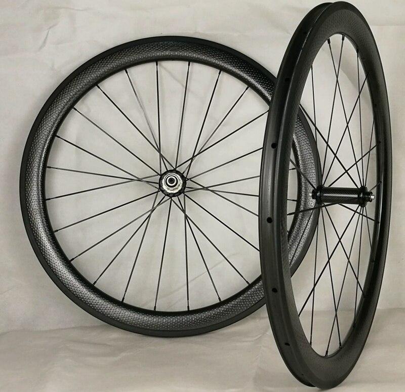 700C fossette roues livraison gratuite 45mm carbone raod roues 25mm largeur fossette roues vélo cinlcher roue De Golf surface roues