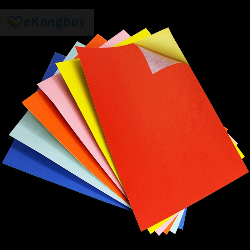 A4 Self-adhesive Color Paper DIY Sticker Label Copy Print Paper Kids Handicraft paper