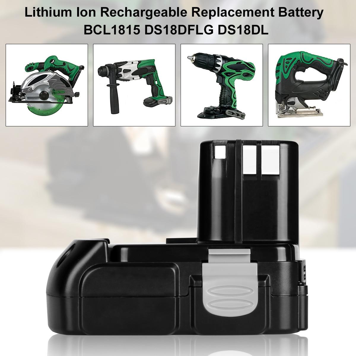 18V 2.0Ah Lithium Rechargeable Battery for Hitachi BCL1815 BCL1830 EBM1830 DS18DFL CJ18DL DS18DL WR18DMR Power Tools Batteria18V 2.0Ah Lithium Rechargeable Battery for Hitachi BCL1815 BCL1830 EBM1830 DS18DFL CJ18DL DS18DL WR18DMR Power Tools Batteria