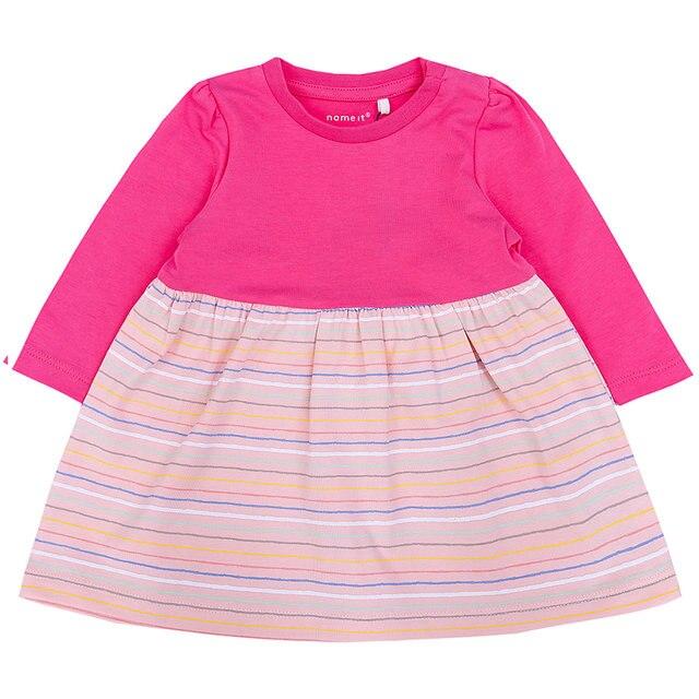 Платье с надписью «NAME IT»; коллекция 11079463 года; платье для девочек; одежда для малышей