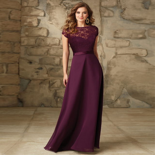 Grape Color Bridesmaid Dresses Cheap