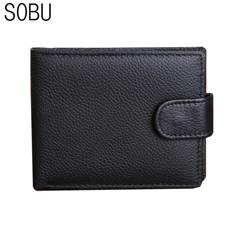 New Genuine Leather Men Wallets Brand Quality Design Wallets with Coin Pocket Purses Gift For Men Card Holder Bifold Male Purse цена и фото