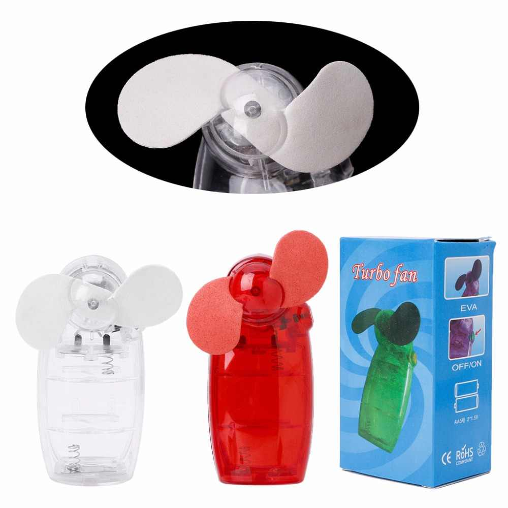 Mini ventilador portátil de bolsillo, ventilador de mano de aire frío con batería para viajes y vacaciones