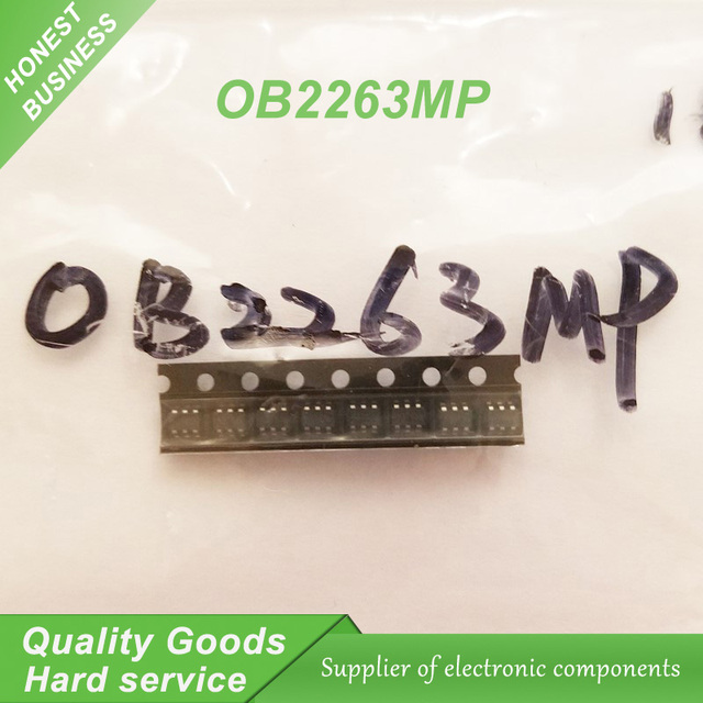 10PCS free shipping OB2263MP OB2263 chip type: 63A SOT23-6 Current Mode PWM Controlle 100% new original